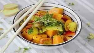 Instant recette : le curry végétarien.